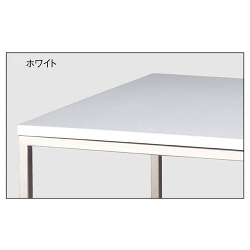 ニッケルサテンショーテーブル W120×D80×H80cm ホワイト 【メーカー直送/代金引換決済不可】【店舗什器 パネル 壁面 店舗備品 仕切 棚】