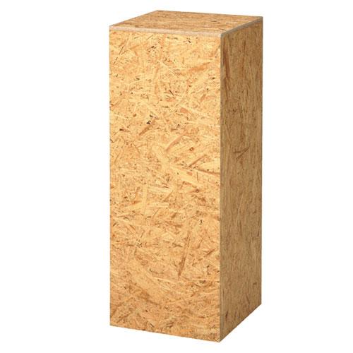【まとめ買い10個セット品】 OSB製角柱ステージ H90cm 【メーカー直送/代金引換決済不可】【店舗什器 パネル 壁面 店舗備品 仕切 棚】