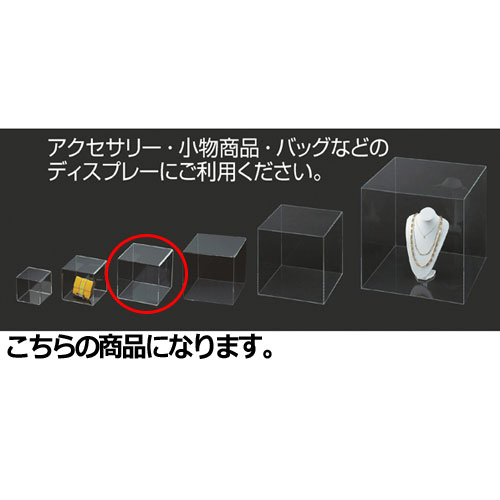 【まとめ買い10個セット品】 アクリル5面ボックス 透明 25cm角【店舗什器 小物 ディスプレー パネル ディスプレー 棚 店舗備品】