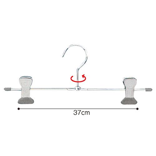 スチール製ボトムハンガー T字型 W39cm 100本【店舗什器 パネル ディスプレー 棚 ハンガー 店舗備品】