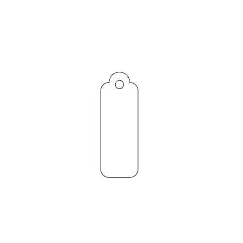 【まとめ買い10個セット品】 小物用さげ札(色糸付き) 0.9×2.5cm 1000枚【販促用品 ポスター POP タグ 店舗備品】