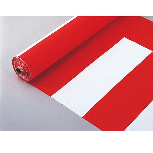 【まとめ買い10個セット品】紅白幕 反物 90cm幅【 店舗什器 小物 ディスプレー POP ポスター 消耗品 店舗備品 】