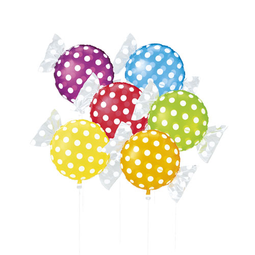 【まとめ買い10個セット品】キャンディシェイプバルーン ドット 30個【 店舗備品 店舗インテリア 店舗改装 】