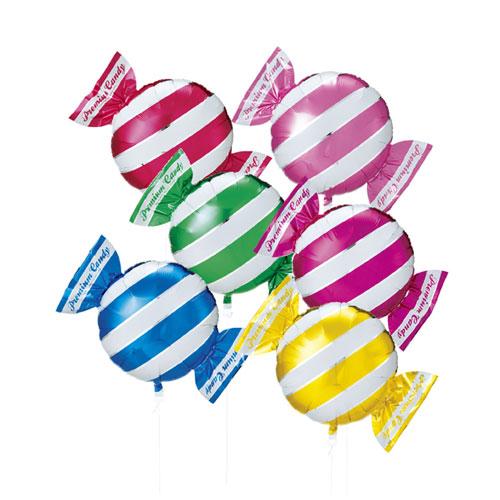 【まとめ買い10個セット品】キャンディシェイプバルーン ストライプ 30個【 店舗備品 店舗インテリア 店舗改装 】
