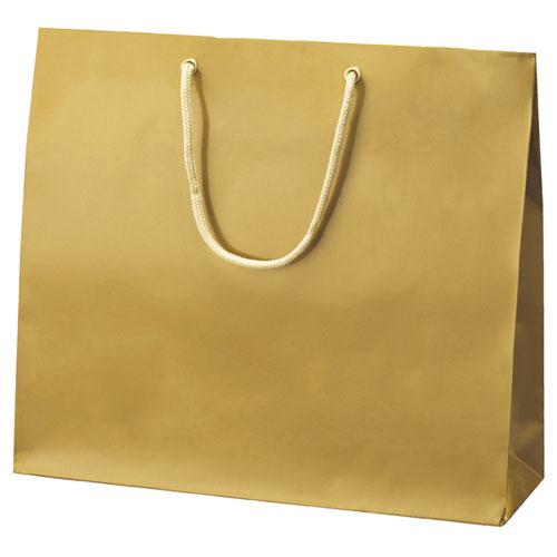 【まとめ買い10個セット品】 手提げ紙袋 ゴールド 33×10×29 10枚【店舗備品 包装紙 ラッピング 袋 ディスプレー店舗】