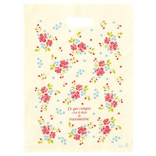 【まとめ買い10個セット品】 ローズガーデン ポリバッグ 23×32 100枚【店舗備品 包装紙 ラッピング 袋 ディスプレー店舗】