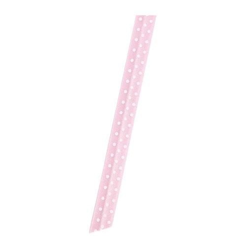 【まとめ買い10個セット品】 ワイド水玉 リボンタイ ピンク 100本【店舗備品 包装紙 ラッピング 袋 ディスプレー店舗】