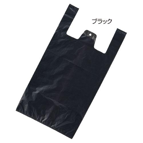 無地 レジ袋 ブラック 24×45(33)×横マチ13 4000枚【店舗什器 小物 ディスプレー ギフト ラッピング 包装紙 袋 消耗品 店舗備品】