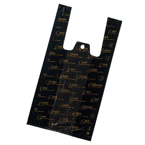 レジ袋 スクリプト 18×35(23)×横マチ11 4000枚【店舗備品 包装紙 ラッピング 袋 ディスプレー店舗】