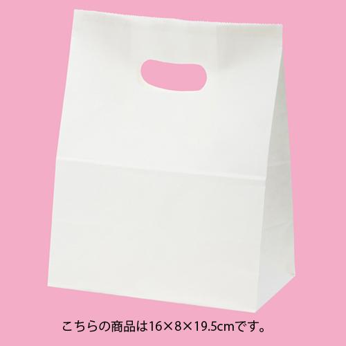 【まとめ買い10個セット品】 イーグリップ 白無地 16×8×19.5 500枚【店舗備品 包装紙 ラッピング 袋 ディスプレー店舗】