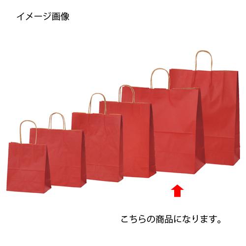 カラー手提げ紙袋 レッド 45×22×45.5 200枚【店舗什器 小物 ディスプレー ギフト ラッピング 包装紙 袋 消耗品 店舗備品】