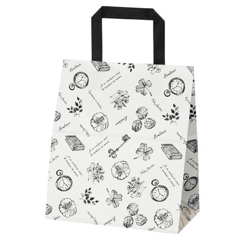 ラ・ナチュール 白 22×14×26 200枚【店舗備品 包装紙 ラッピング 袋 ディスプレー店舗】