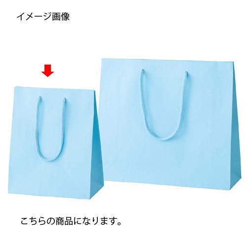 カラー手提げ紙袋 ブルー 20×12×25 100枚【店舗什器 小物 ディスプレー ギフト ラッピング 包装紙 袋 消耗品 店舗備品】