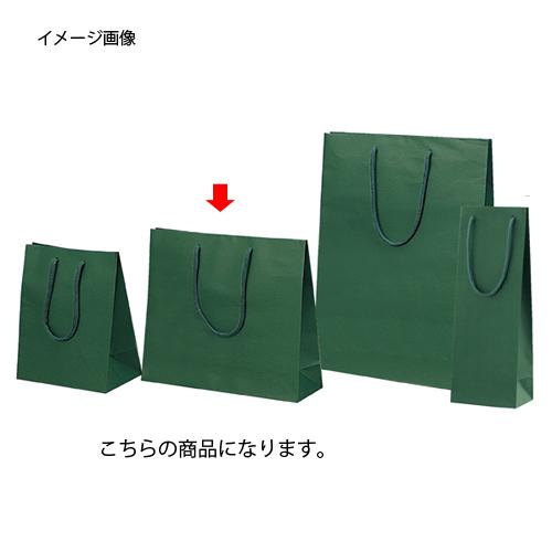 カラー手提げ紙袋 グリーン 33×10×29 100枚【店舗什器 小物 ディスプレー ギフト ラッピング 包装紙 袋 消耗品 店舗備品】