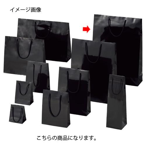 ブライトバッグ ブラック 38×12×52 100枚【店舗備品 包装紙 ラッピング 袋 ディスプレー店舗】