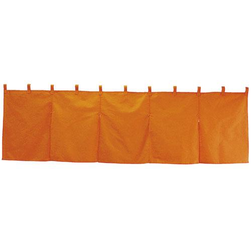 【まとめ買い10個セット品】 無地のれん(5巾) 防炎 オレンジ【店舗什器 小物 ディスプレー POP ポスター 消耗品 店舗備品】