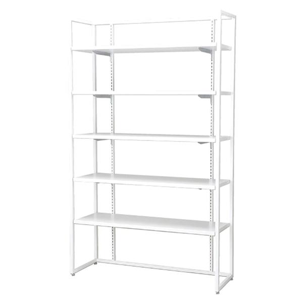 SF壁面オープン90×10cm本体木棚セット白 1台 木棚×5枚