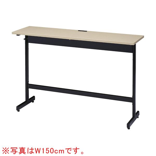 コンセント付きハイテーブルW120cm古木柄