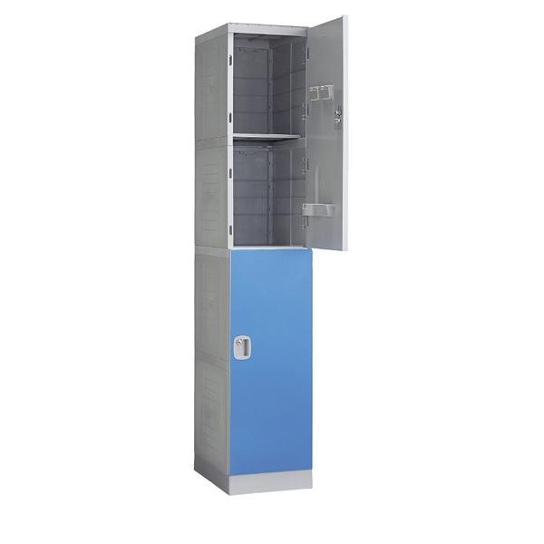 ABS樹脂ロッカーH196cm 2人用 ブルー