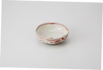 和食器 粉引たちばな 花型4.5鉢 35K056-20 まごころ第35集