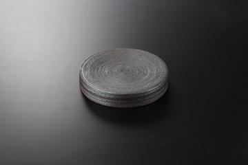 【まとめ買い10個セット品】和食器 炭化黒 21cmクシ目台皿 35K126-05 まごころ第35集 【キャンセル/返品不可】