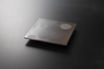 和食器 炭化土ぼたもち 正角25cm陶板皿 35K125-11 まごころ第35集