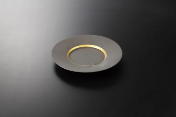 和食器 炭化金帯 9.0皿 35K127-07 まごころ第35集