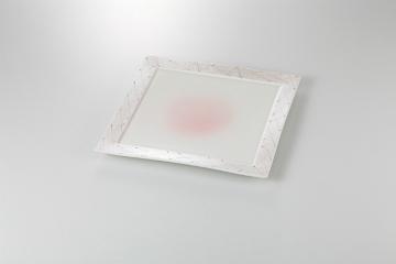 和食器 ピンク一珍 正角8.0皿 35K130-22 まごころ第35集