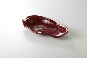 【まとめ買い10個セット品】和食器 赤黒釉彩 岩型長鉢 36K157-06 まごころ第36集 【キャンセル/返品不可】