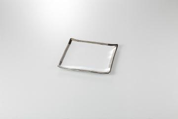 【まとめ買い10個セット品】和食器 銀彩 正角采皿レンジ可 35A135-17 まごころ第35集 【キャンセル/返品不可】