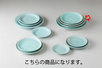 【まとめ買い10個セット品】和食器 手彫青白瓷 丸9.5皿 35K212-20 まごころ第35集 【キャンセル/返品不可】