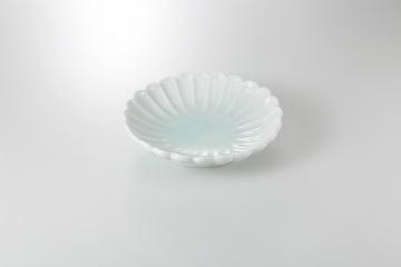 【まとめ買い10個セット品】和食器 青白磁 菊型鉢 36K245-14 まごころ第36集 【キャンセル/返品不可】