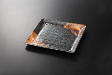 【まとめ買い10個セット品】和食器 金結晶 正角盛皿 36K213-08 まごころ第36集 【キャンセル/返品不可】