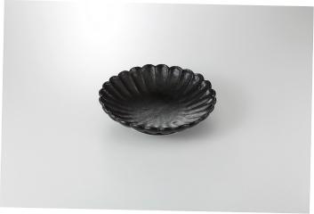 【まとめ買い10個セット品】和食器 黒武蔵 菊型鉢 36K245-13 まごころ第36集 【キャンセル/返品不可】
