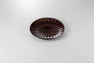 【まとめ買い10個セット品】和食器 漆ブラウン 8寸皿 35K210-05 まごころ第35集 【キャンセル/返品不可】