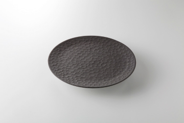 【まとめ買い10個セット品】和食器 鎌倉彫ブラック フラット皿(小小) 36K425-07 まごころ第36集 【キャンセル/返品不可】