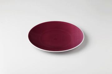 【まとめ買い10個セット品】和食器 クレイズ紫 8吋サラダプレート 35K396-09 まごころ第35集 【キャンセル/返品不可】