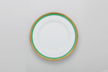 【まとめ買い10個セット品】和食器 ロイヤルグリン 10吋ディナー皿 35A442-07 まごころ第35集 【キャンセル/返品不可】