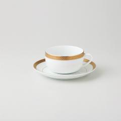 【まとめ買い10個セット品】和食器 ビクトリーゴールド(純白強化磁器) 紅茶カップ 36A484-10 まごころ第36集 【キャンセル/返品不可】