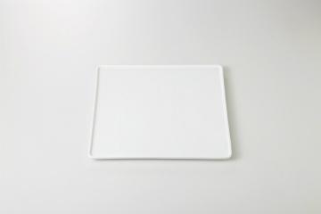 和食器 白磁ブロック 24cm角皿 35M406-16 まごころ第35集