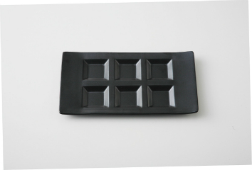【まとめ買い10個セット品】和食器 黒 シックスプレート(強化) 35K479-12 まごころ第35集 【キャンセル/返品不可】