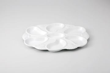 【まとめ買い10個セット品】和食器 白磁 オイスター皿 35K499-34 まごころ第35集 【キャンセル/返品不可】