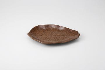 和食器 茶イラボ 朴葉陶板 35K527-09 まごころ第35集