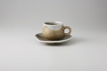 【まとめ買い10個セット品】和食器 白釉掛分 コーヒーC/S 35Q482-46 まごころ第35集 【キャンセル/返品不可】