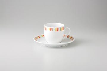 【まとめ買い10個セット品】和食器 イングレオレンジ コーヒーC/S(強化) 35A484-37 まごころ第35集 【キャンセル/返品不可】