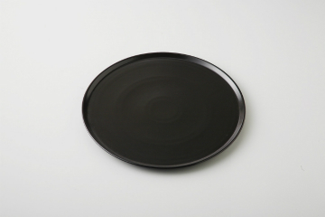 和食器 黒ピザプレート (中) 35A499-07 まごころ第35集