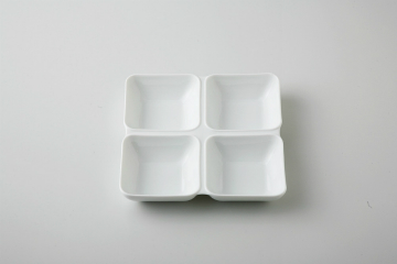 和食器 白磁 四切皿 35M479-06 まごころ第35集