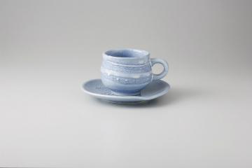 【まとめ買い10個セット品】和食器 ブルー彩 コーヒーC/S 35M483-39 まごころ第35集 【キャンセル/返品不可】