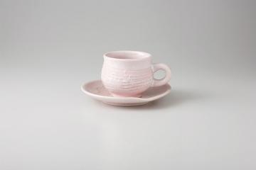 【まとめ買い10個セット品】和食器 ピンク彩 コーヒーC/S 35M483-37 まごころ第35集 【キャンセル/返品不可】
