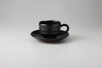【まとめ買い10個セット品】和食器 黒柚子ゆったり コーヒーC/S 35Y480-23 まごころ第35集 【キャンセル/返品不可】